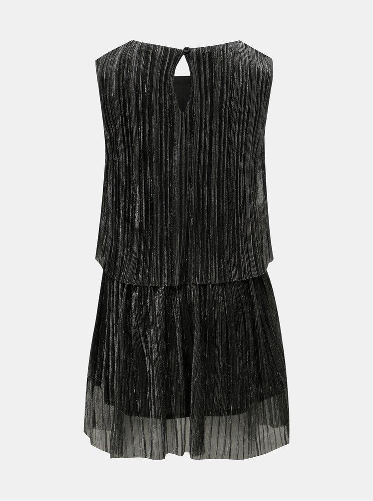 Holčičí šaty v černo-stříbrné barvě Name it