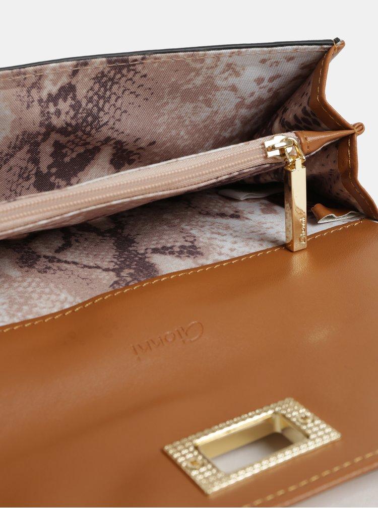 Portofel mare mustar cu detalii aurii Gionni Cleo