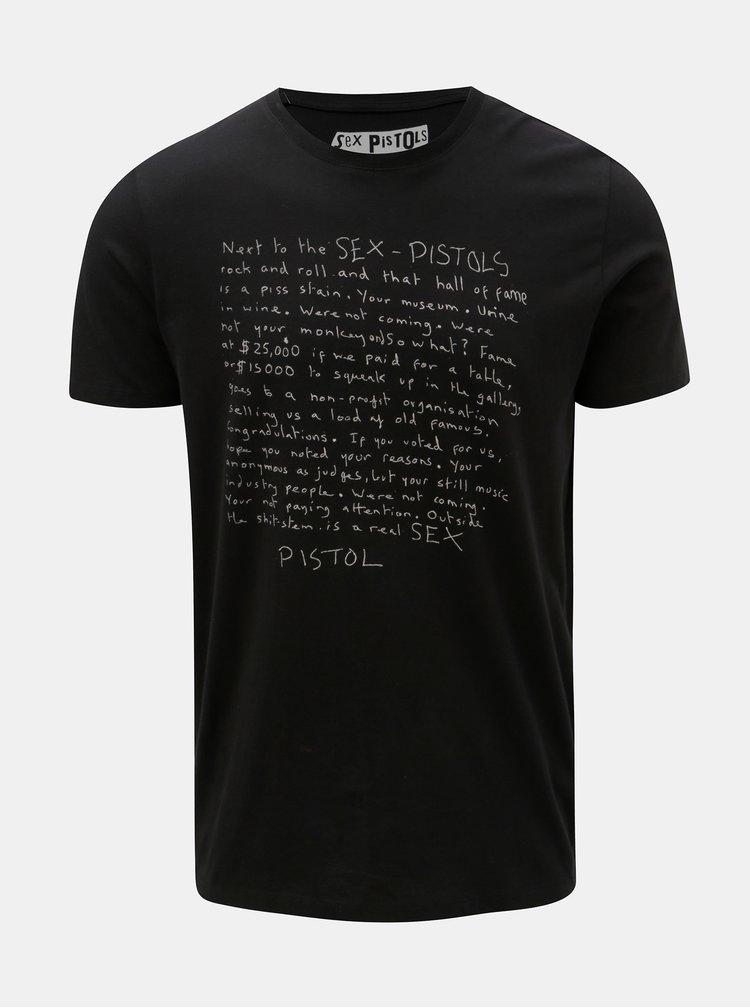 Černé tričko s krátkým rukávem Selected Homme Prince