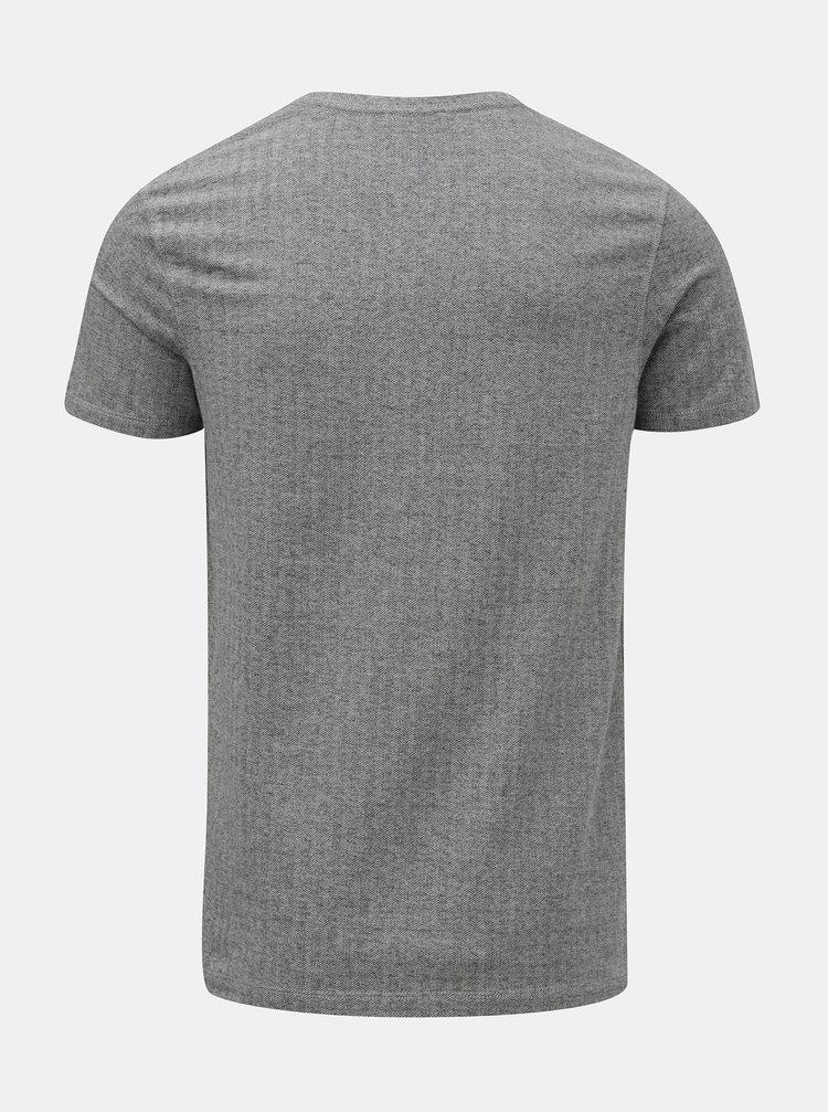 Šedé basic tričko s krátkým rukávem Selected Homme Clinton