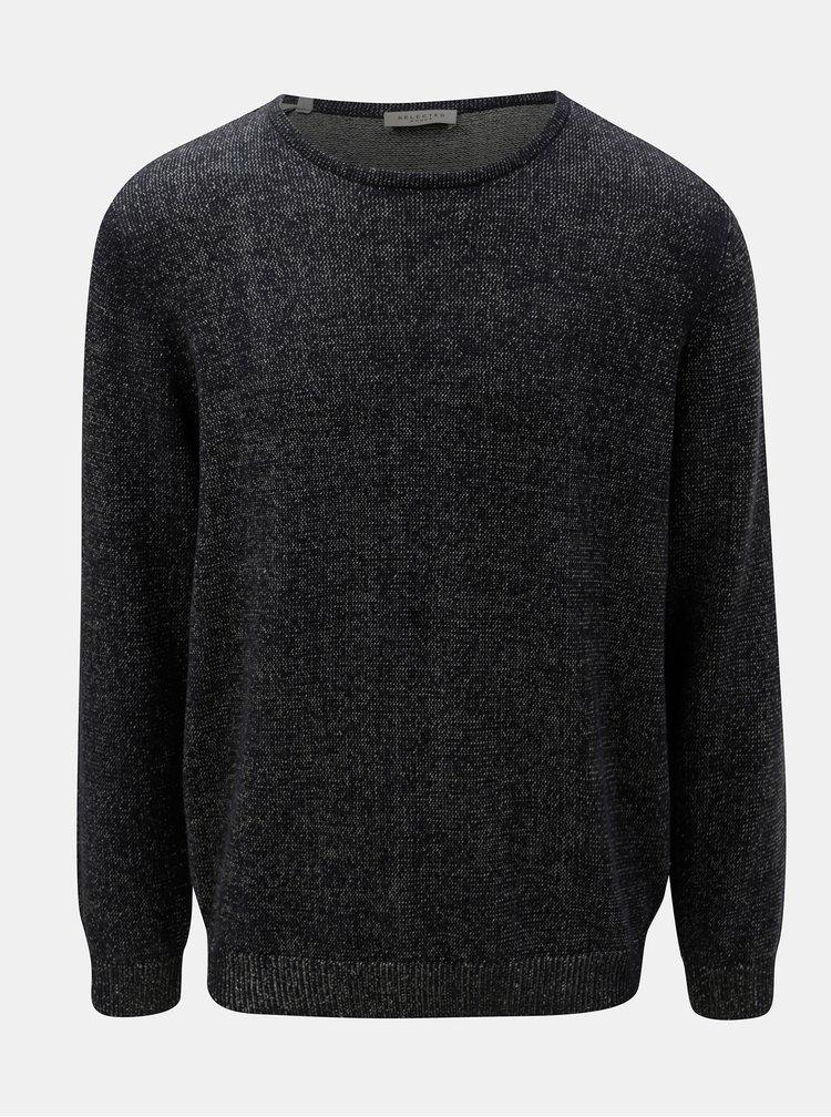 Modrý melírovaný sveter Selected Homme Andrew