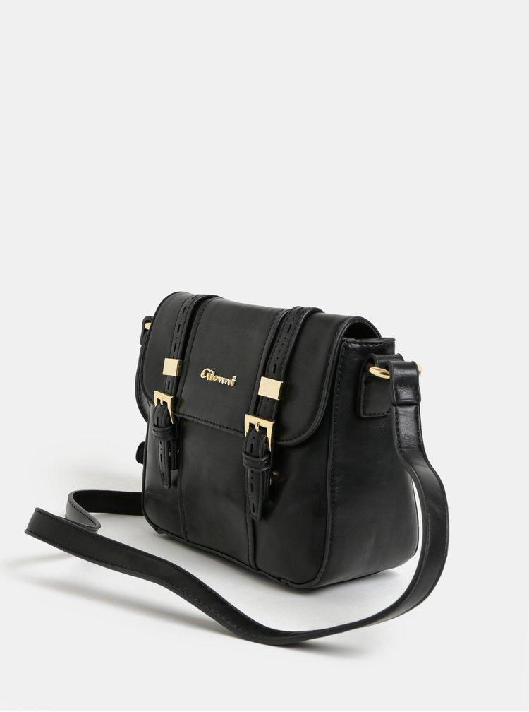 Čierna crossbody kabelka s detailmi v zlatej farbe Gionni Glenna