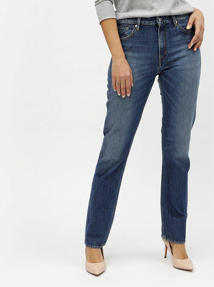 Modré dámské straight džíny s vysokým pasem Kings of Indigo Kimberley