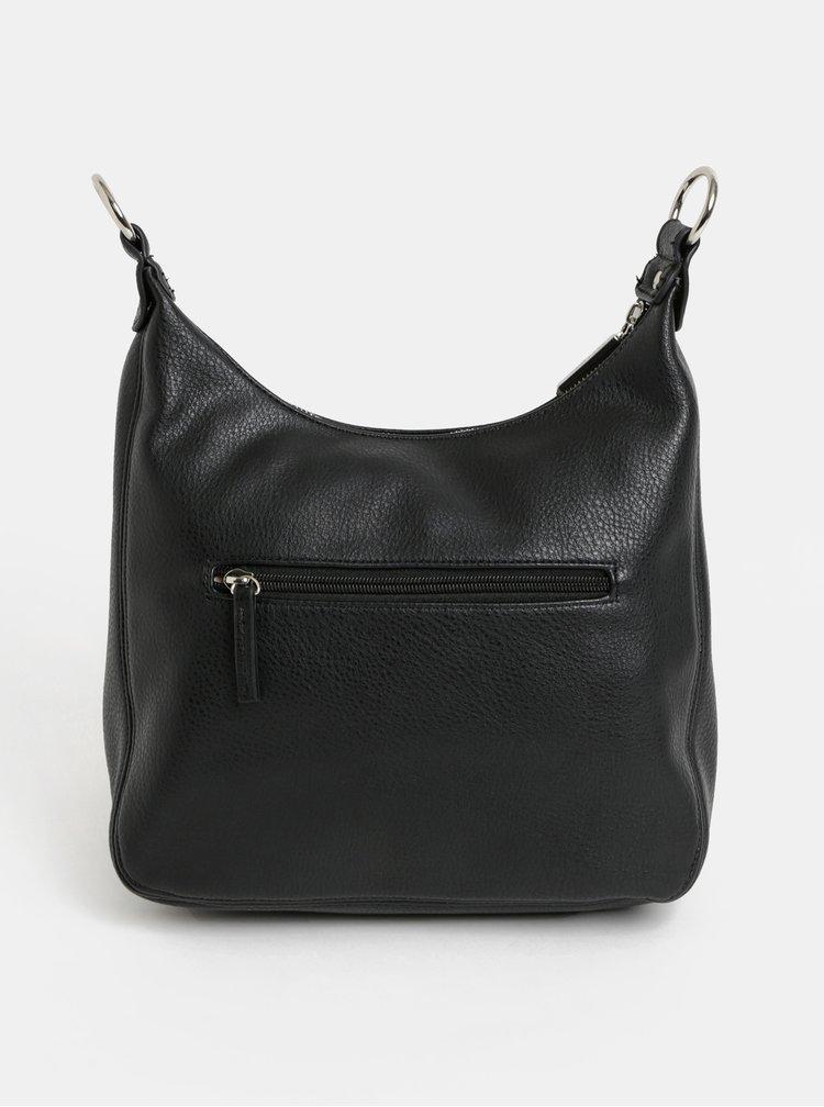Černá crossbody kabelka s detaily ve stříbrné barvě Gionni Camellia
