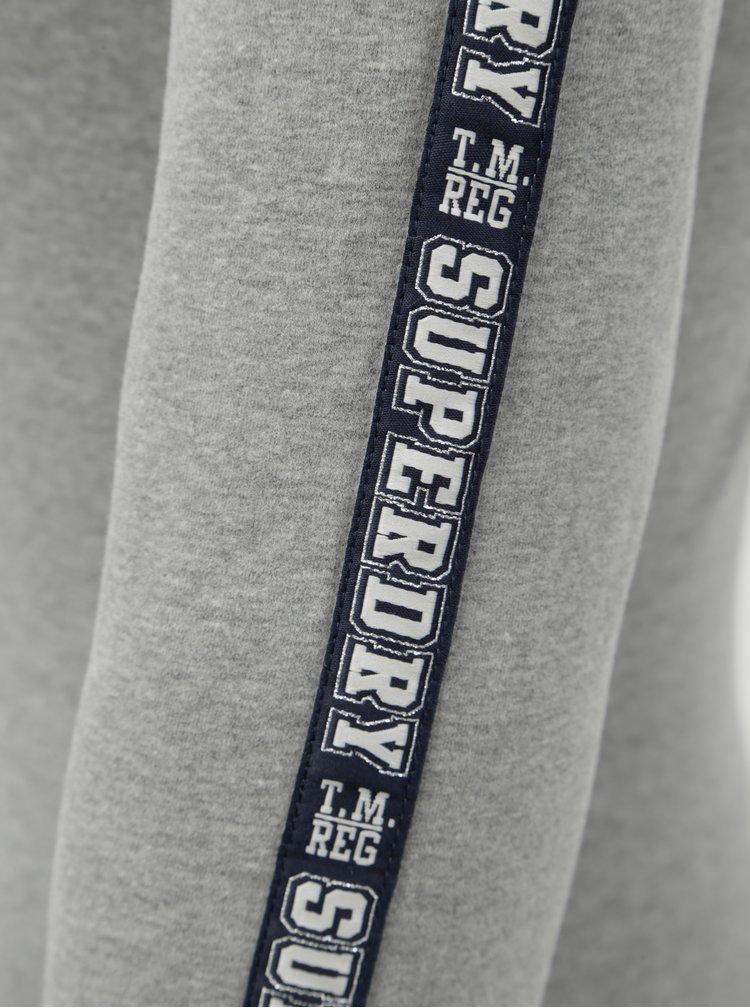 Dámské žíhané šedé body s pruhem na rukávech Superdry