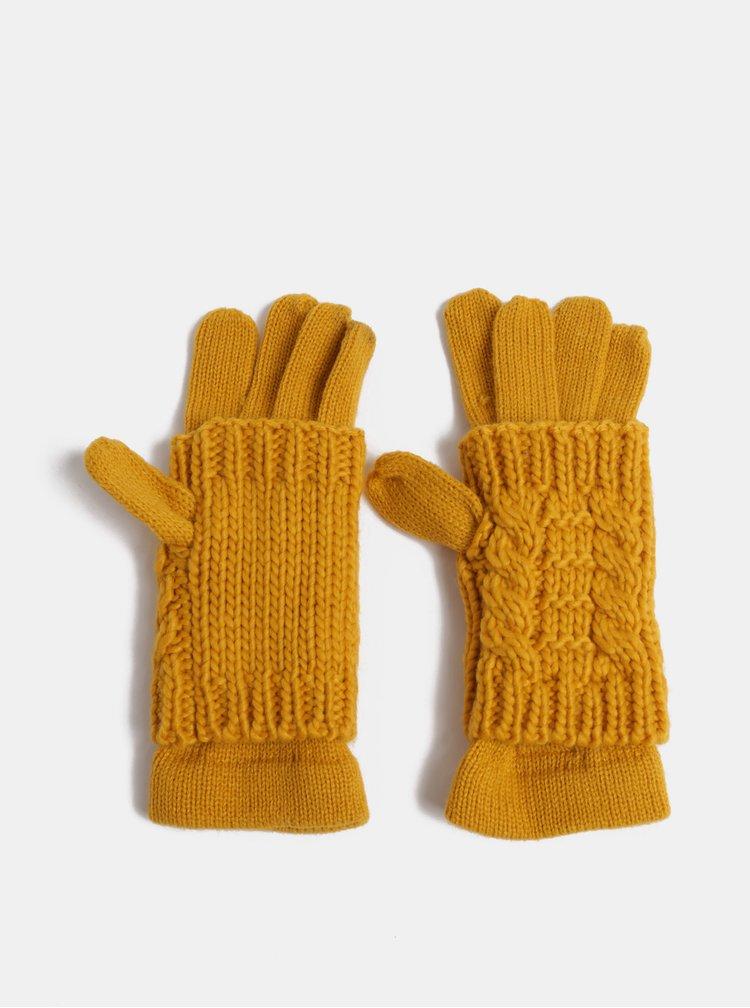 Horčicové rukavice s odnímateľným návlekom 2v1 ONLY Thona