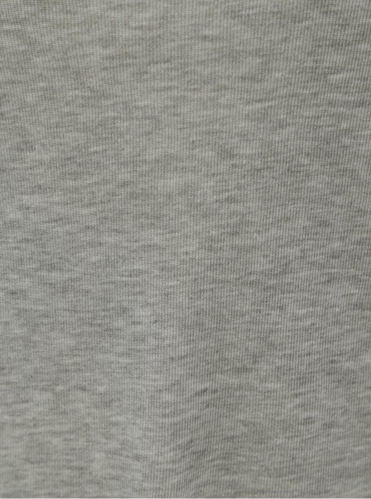 Šedé žíhané tričko VERO MODA AWARE Fay