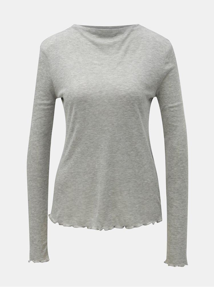 Šedé žíhané tričko AWARE by VERO MODA Fay