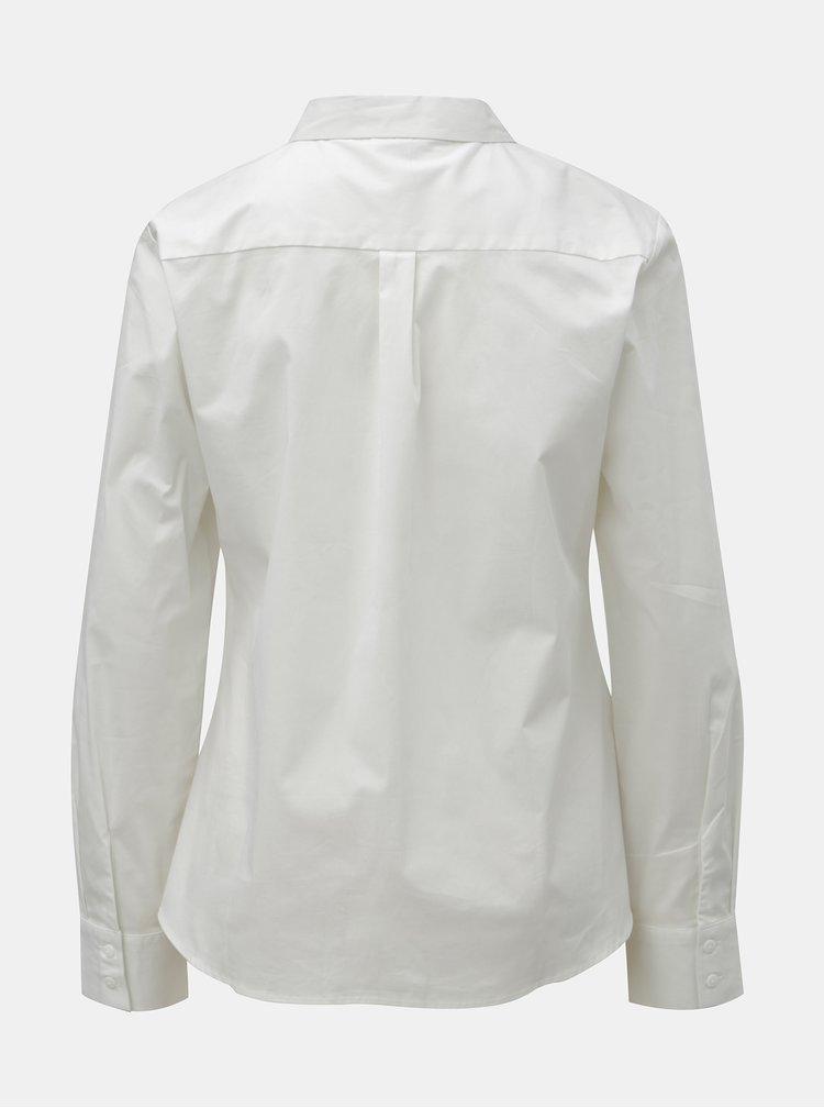 Bílá košile s aplikací ve stříbrné barvě VERO MODA Zenia
