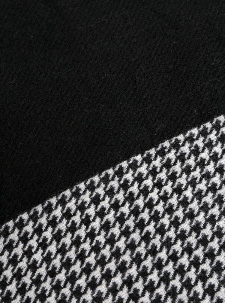 Bílo-černá vzorovaná šála Pieces Kit