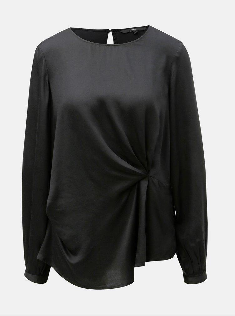 Bluza neagra cu maneci lungi VERO MODA Faithy