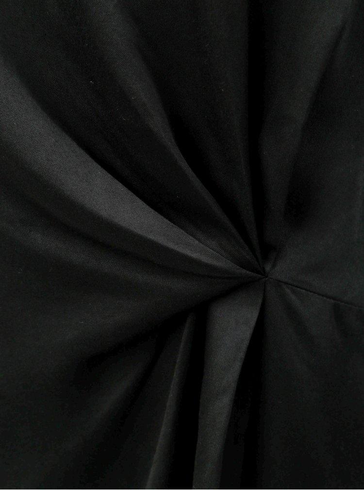 Čierna blúzka s dlhým rukávom VERO MODA Faithy