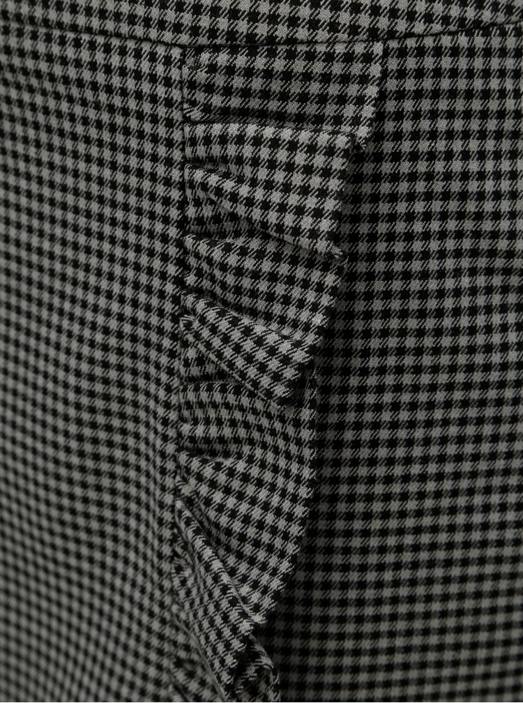 Fusta mini negru-gri cu model VERO MODA Ylva
