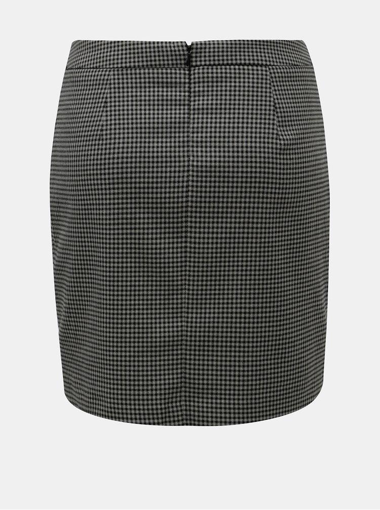 Černo-šedá vzorovaná minisukně VERO MODA Ylva