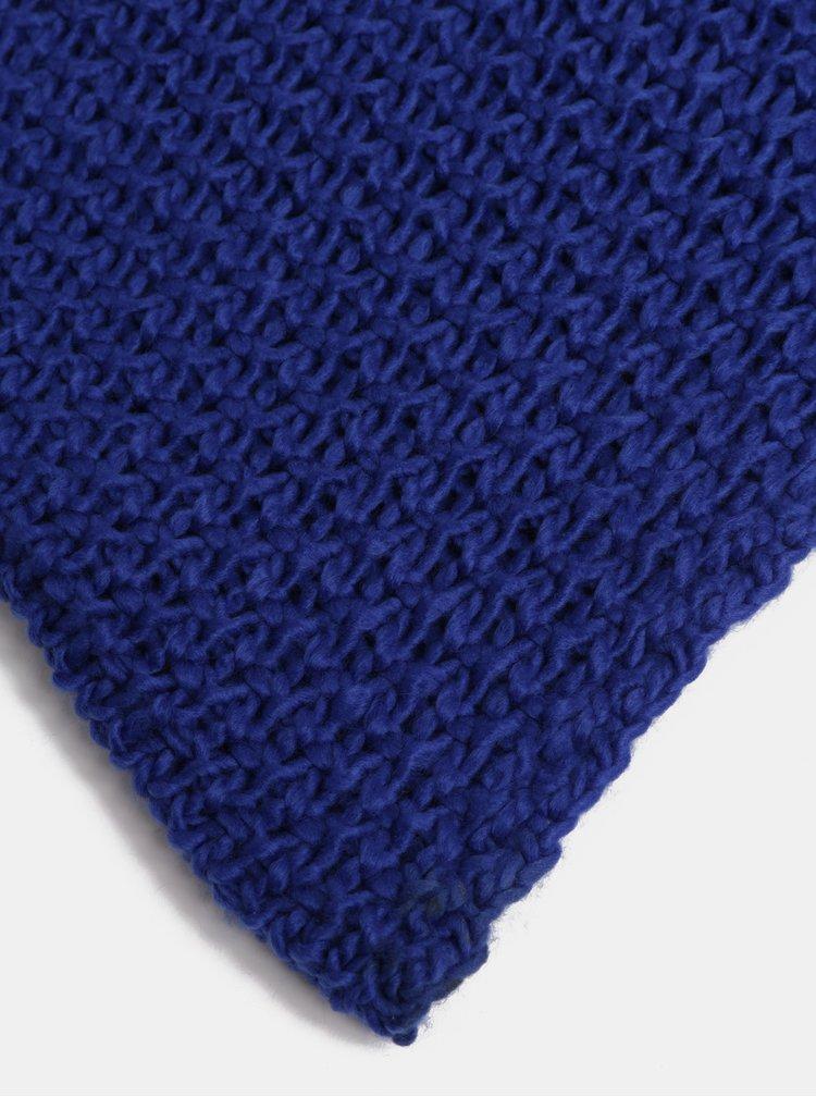 Fular albastru inchis impletit ONLY Thona