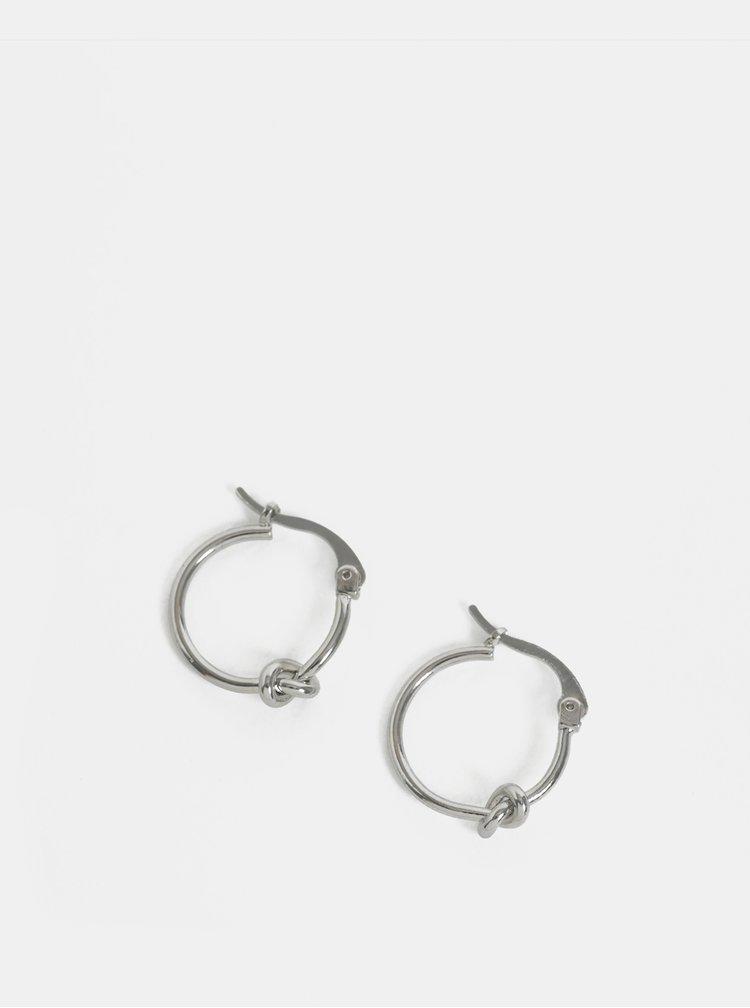 Kruhové náušnice ve stříbrné barvě s detailem Pieces Kailey