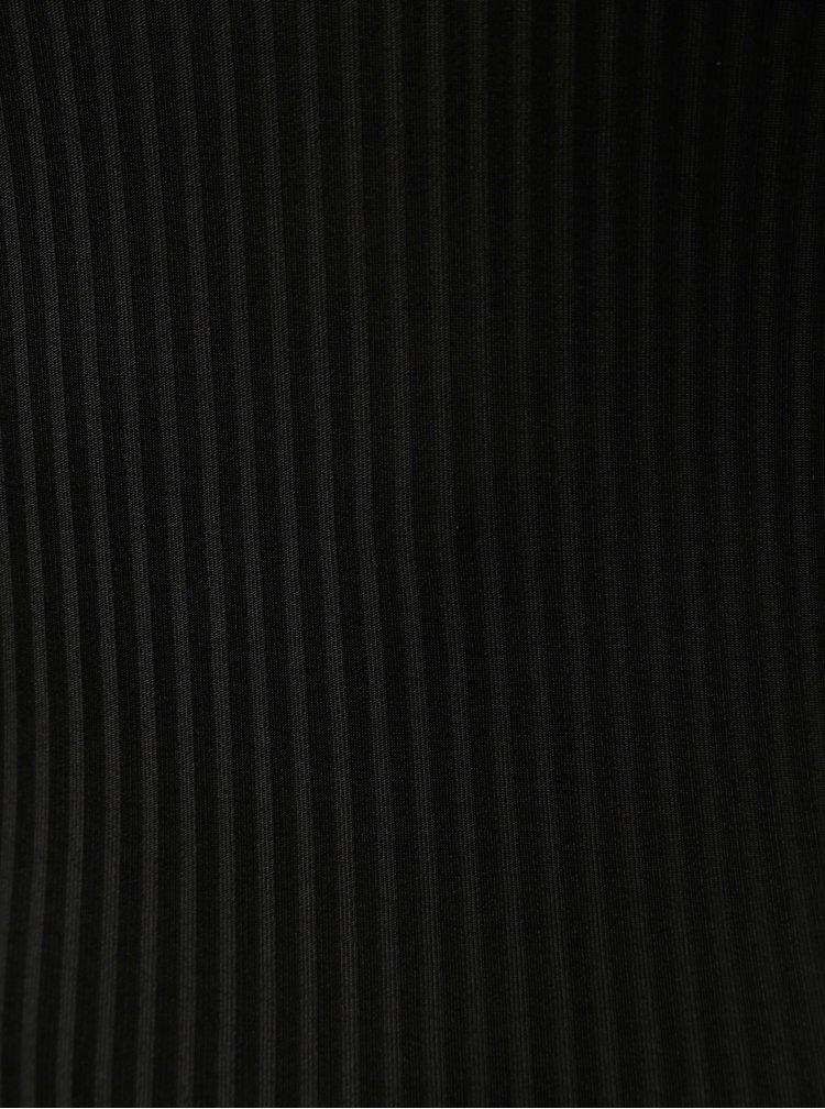 Černé pruhované body s krajkovými detaily ONLY Mila