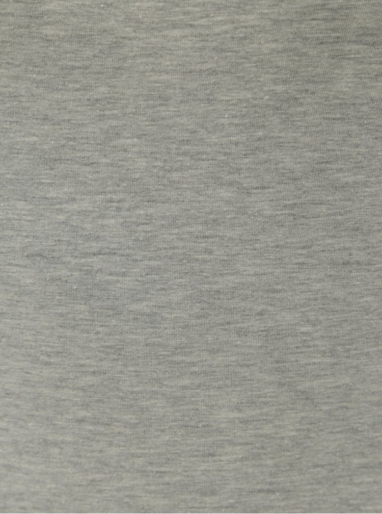 Sivé melírované basic tričko s dlhým rukávom VERO MODA Maxi