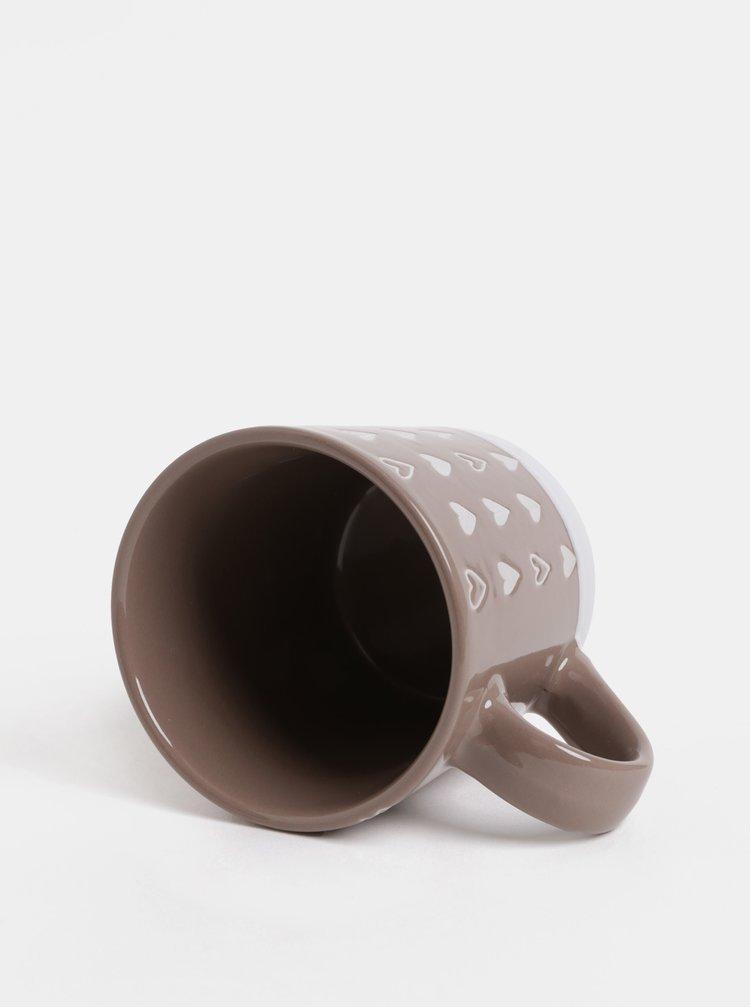 Hnedý vzorovaný hrnček Dakls 450 ml