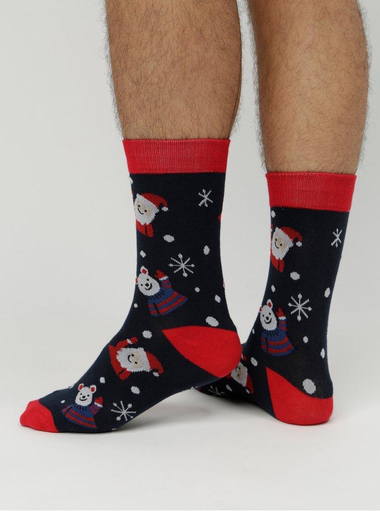 Sada tří párů ponožek s vánočním motivem v dárkovém balení Jack & Jones Snowman