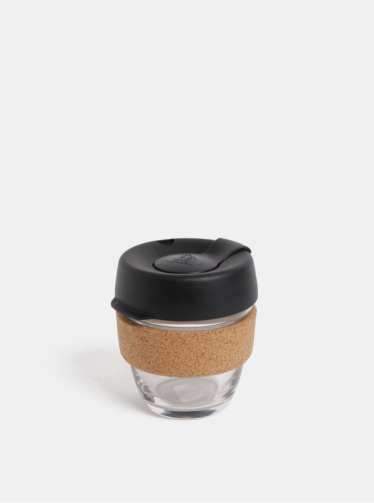 Černý skleněný cestovní hrnek KeepCup Brew small 227 ml