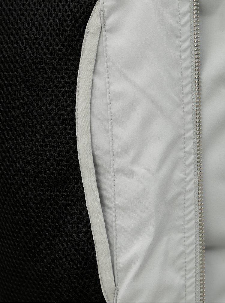 Svetlosivá prešívaná nepremokavá zimná bunda Jack & Jones Rumple