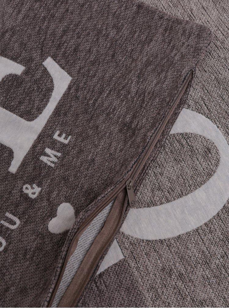 Krémovo-hnědý vzorovaný potah na polštář Dakls