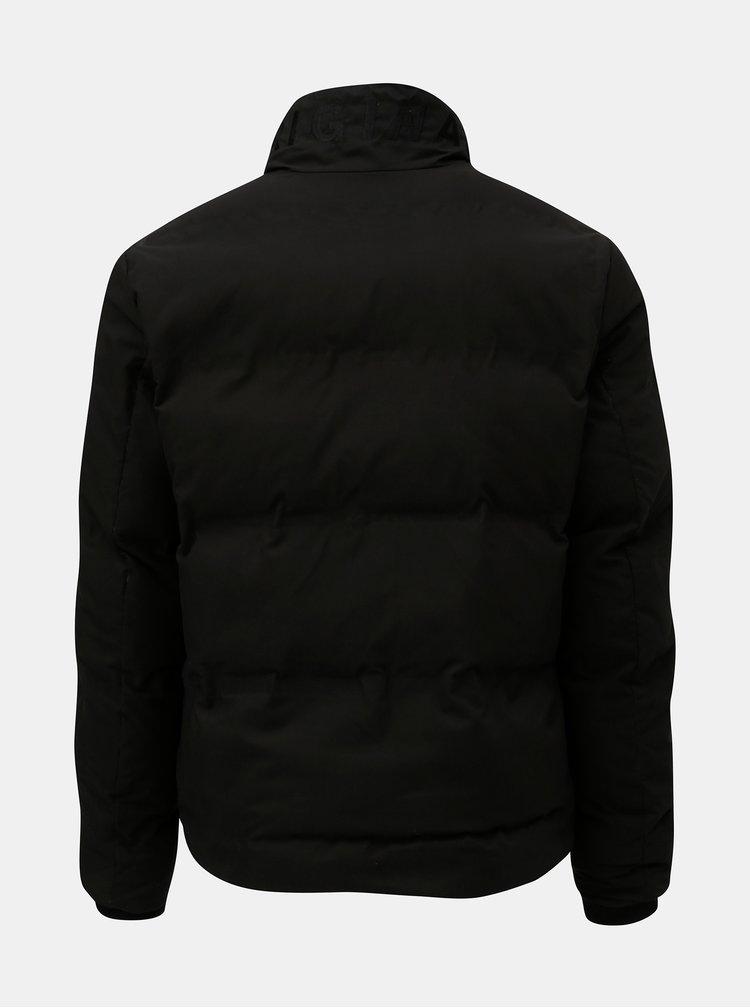 Čierna prešívaná nepremokavá zimná bunda Jack & Jones Rumple