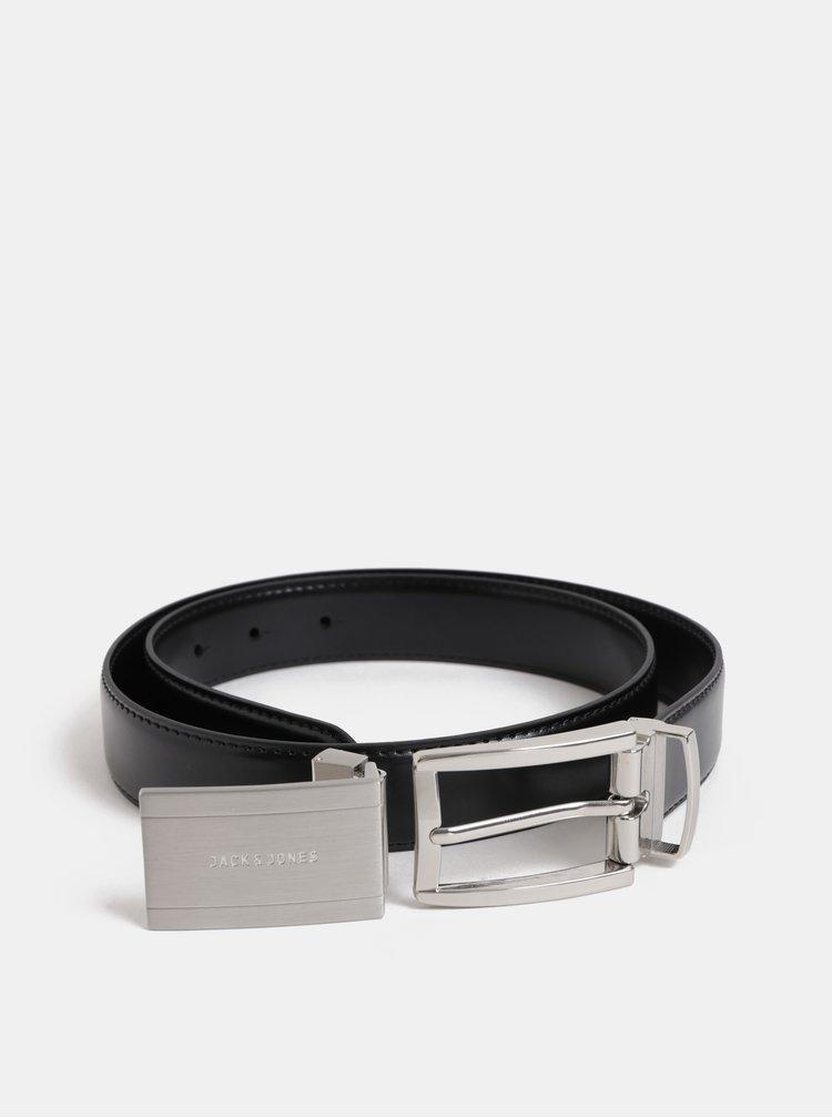 Curea neagra din piele cu catarama intersanjabile in cutie cadou Jack & Jones Belt Gift Box