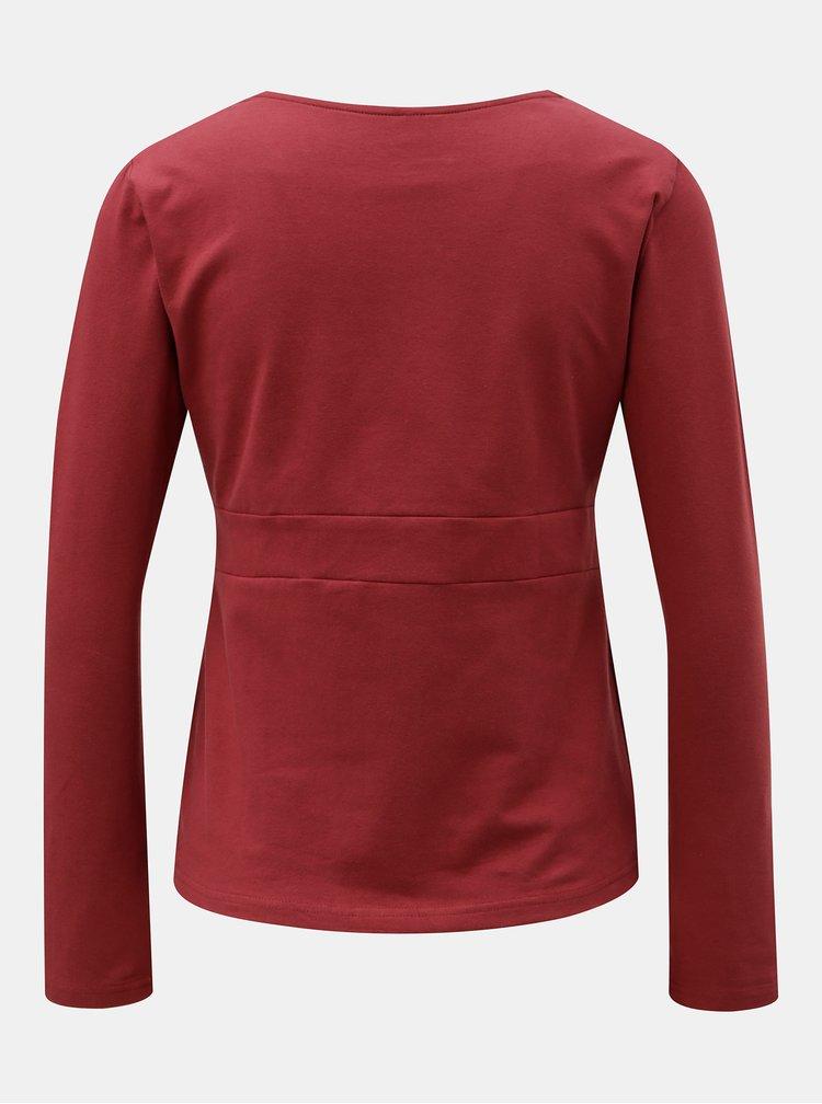 Červené tričko s prekladaným výstrihom Tranquillo Allanzu