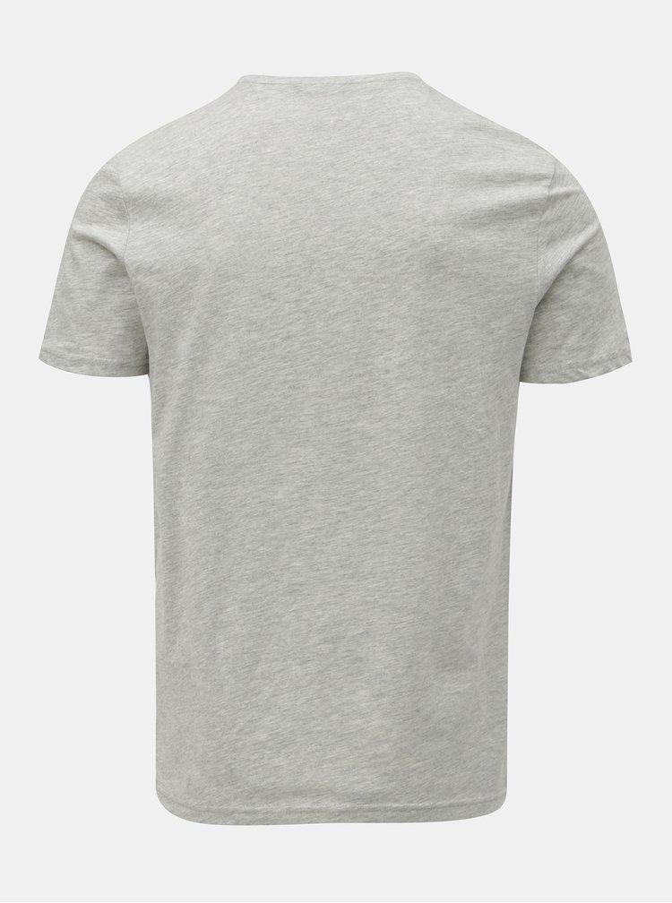 Sivé melírované tričko s potlačou ONLY & SONS Fore