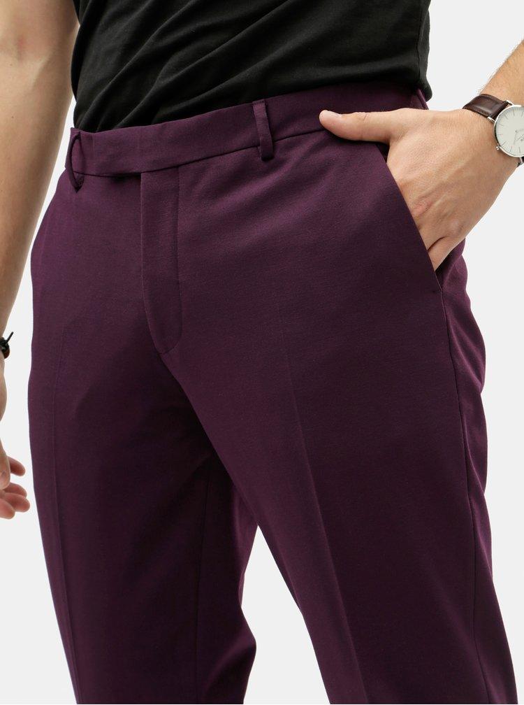 Fialové oblekové nohavice Jack & Jones Steven