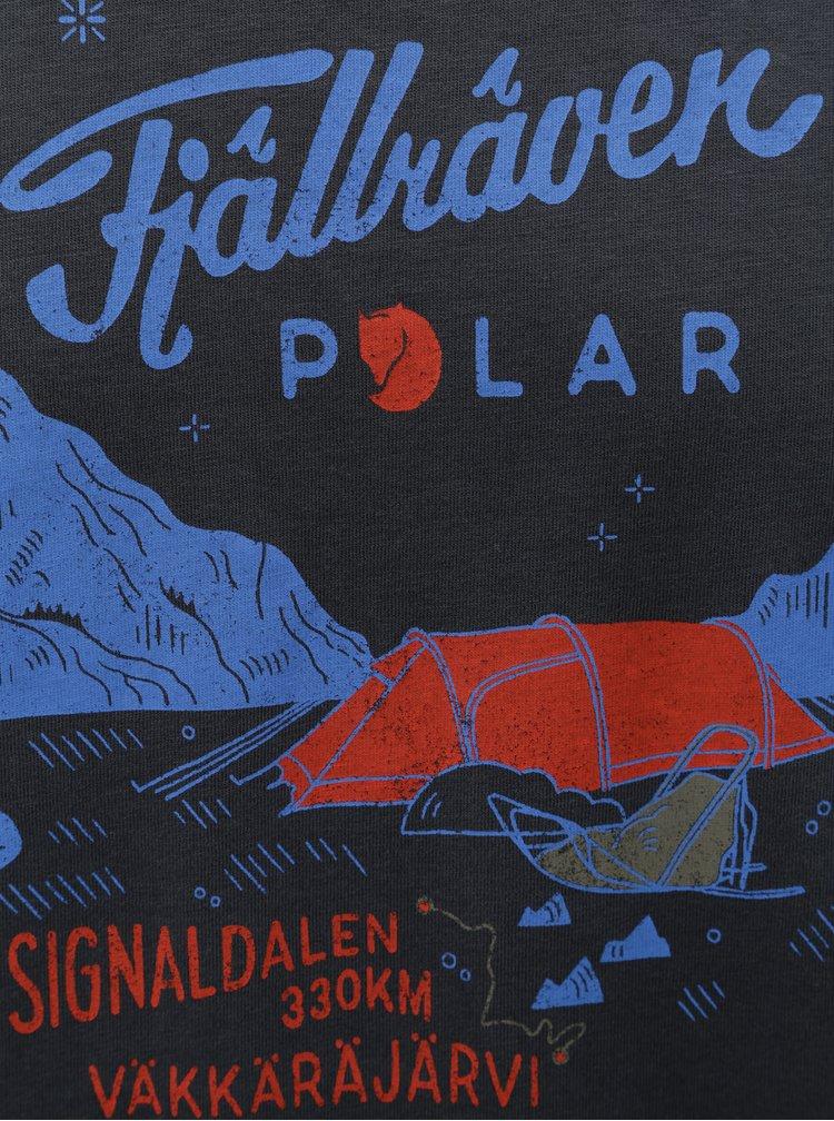 Tmavosivé tričko s potlačou Fjällräven Polar