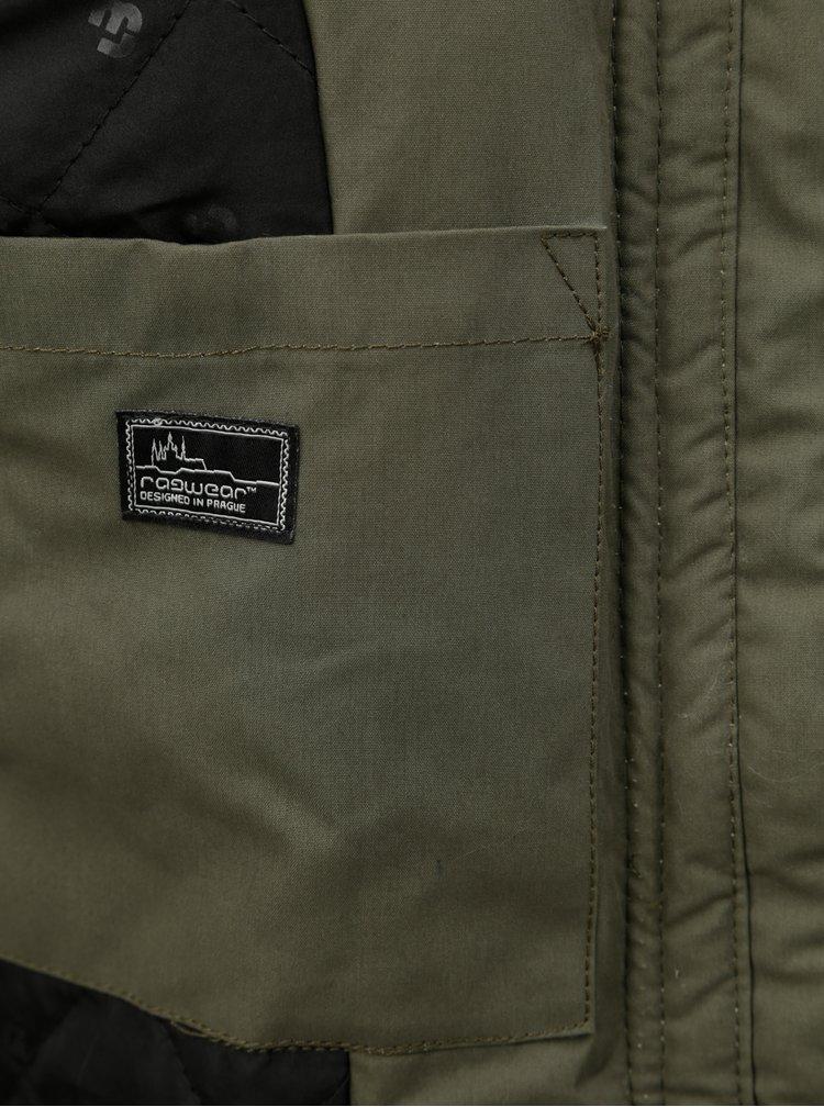 Zelená pánská zimní bunda s kapucí Ragwear