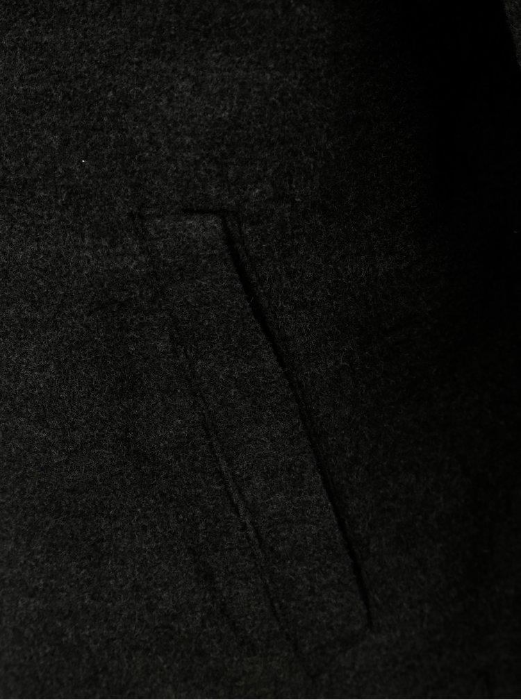 Jacheta barbateasca gri de iarna cu gluga Ragwear