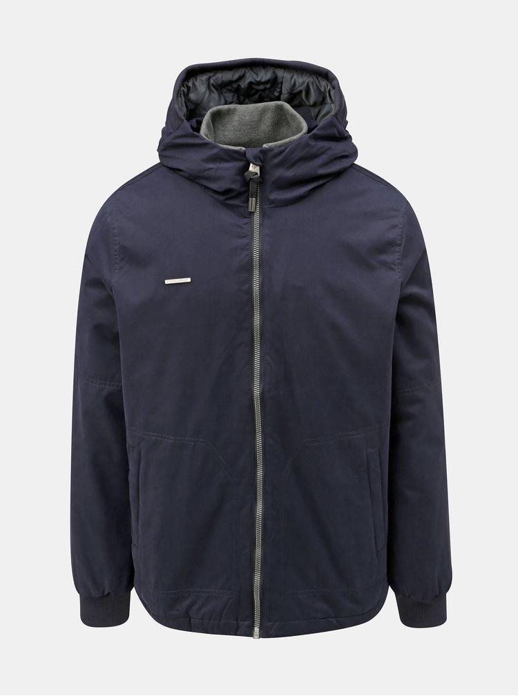 Tmavomodrá pánska zimná bunda s kapucňou Ragwear
