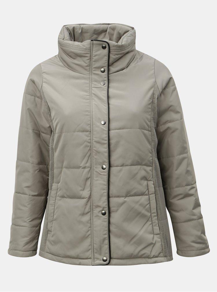 Béžová zimná bunda Zizzi