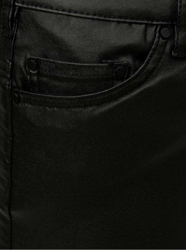 Černá koženková sukně Zizzi