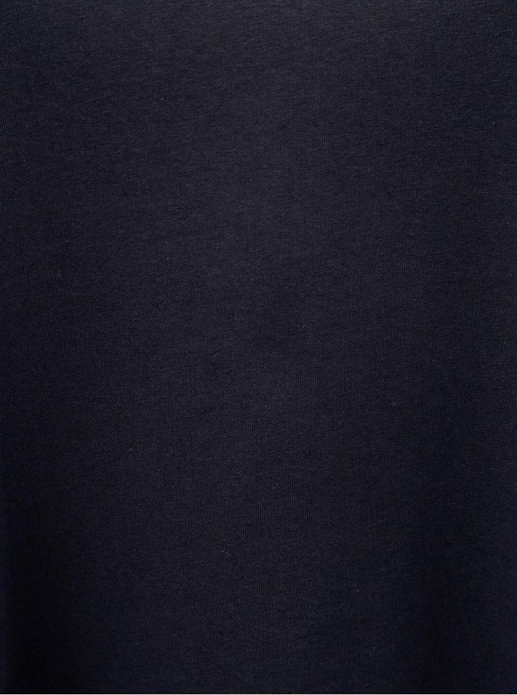 Tricou albastru inchis cu decolteu in V Zizzi