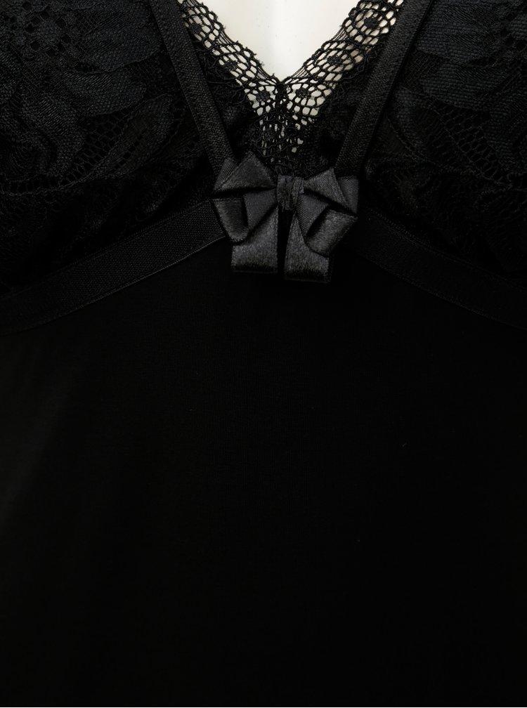 Černá košilka s krajkovými detaily Eldar Elektra