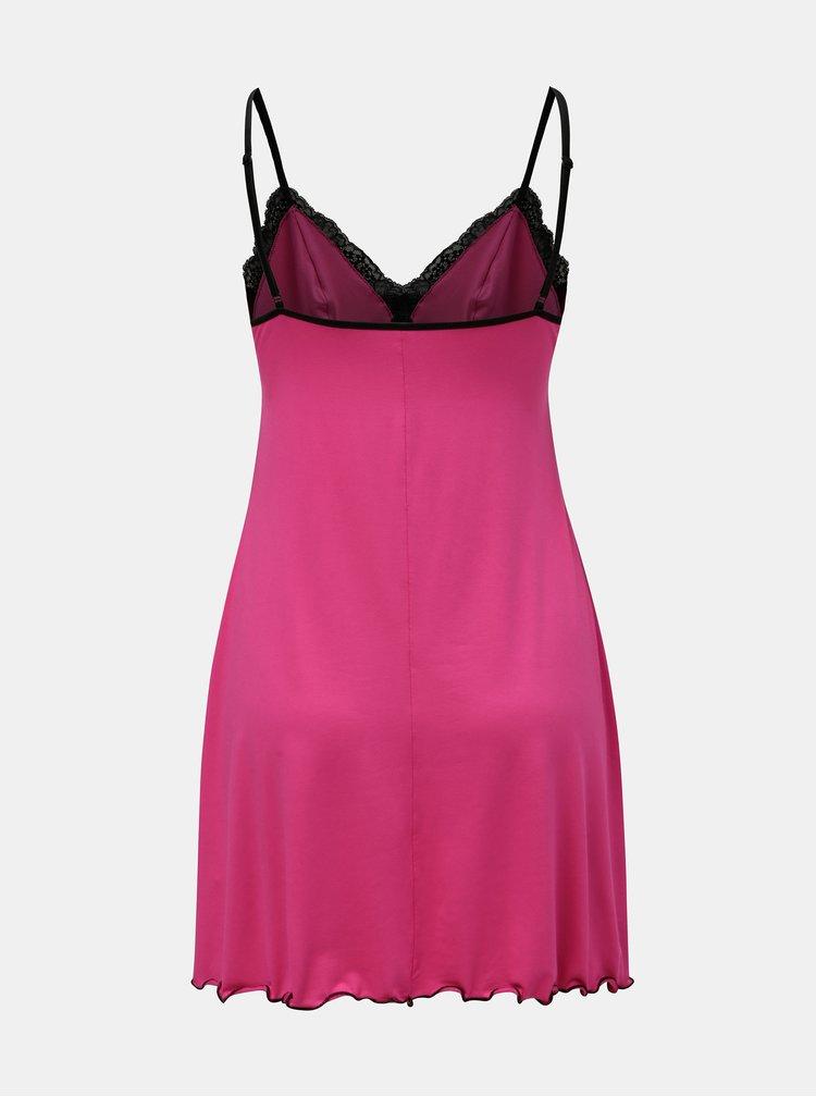 Tmavě růžová košilka s krajkovými detaily Eldar Lola