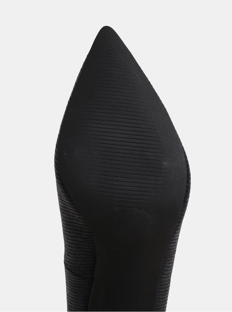 Pantofi negri cu model si toc inalt Dorothy Perkins
