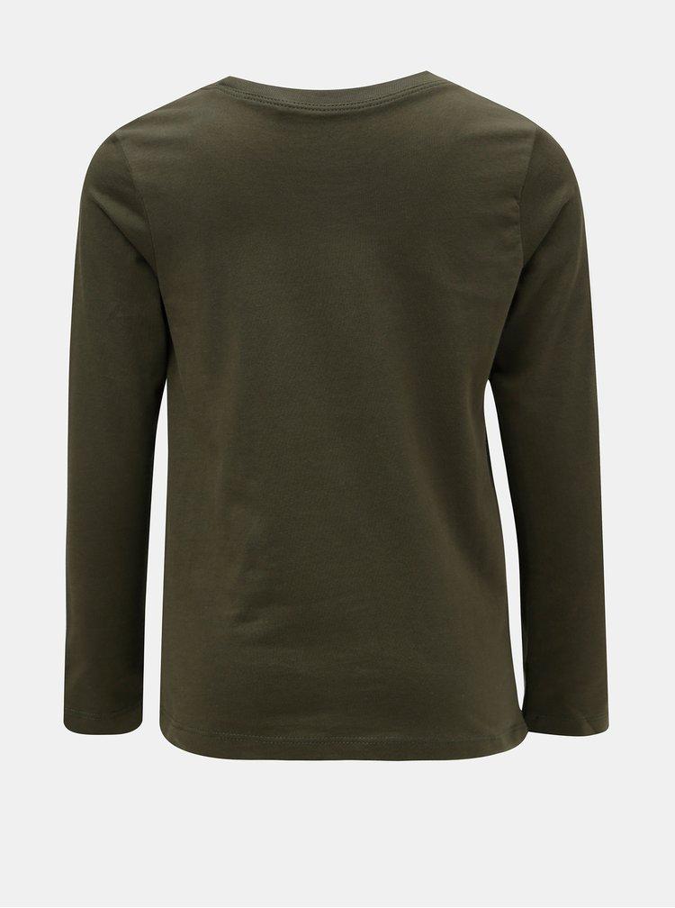 Khaki klučičí tričko s potiskem Name it Victor
