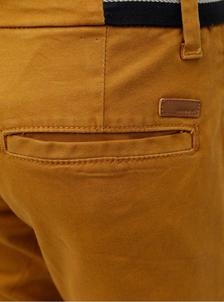 Hnědé klučičí chino slim fit kalhoty Name it Robin