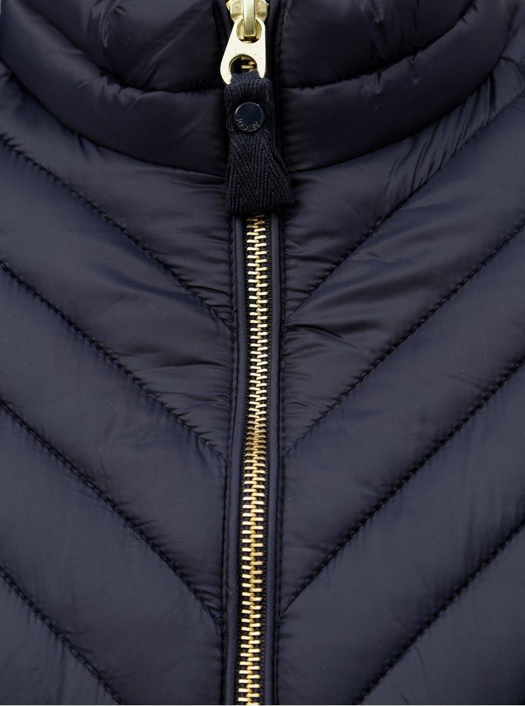 Tmavě modrá dámská lehká prošívaná bunda Tom Joule Chevron