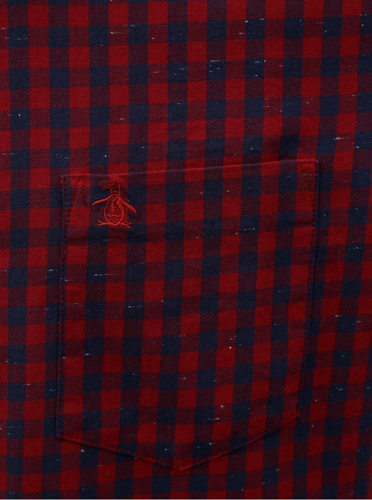 Modro-červená kostkovaná košile Original Penguin