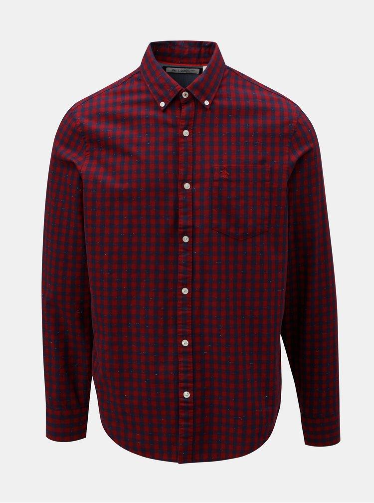 Modro-červená kostkovaná košile s kapucí Blend  8a1c18ee4e