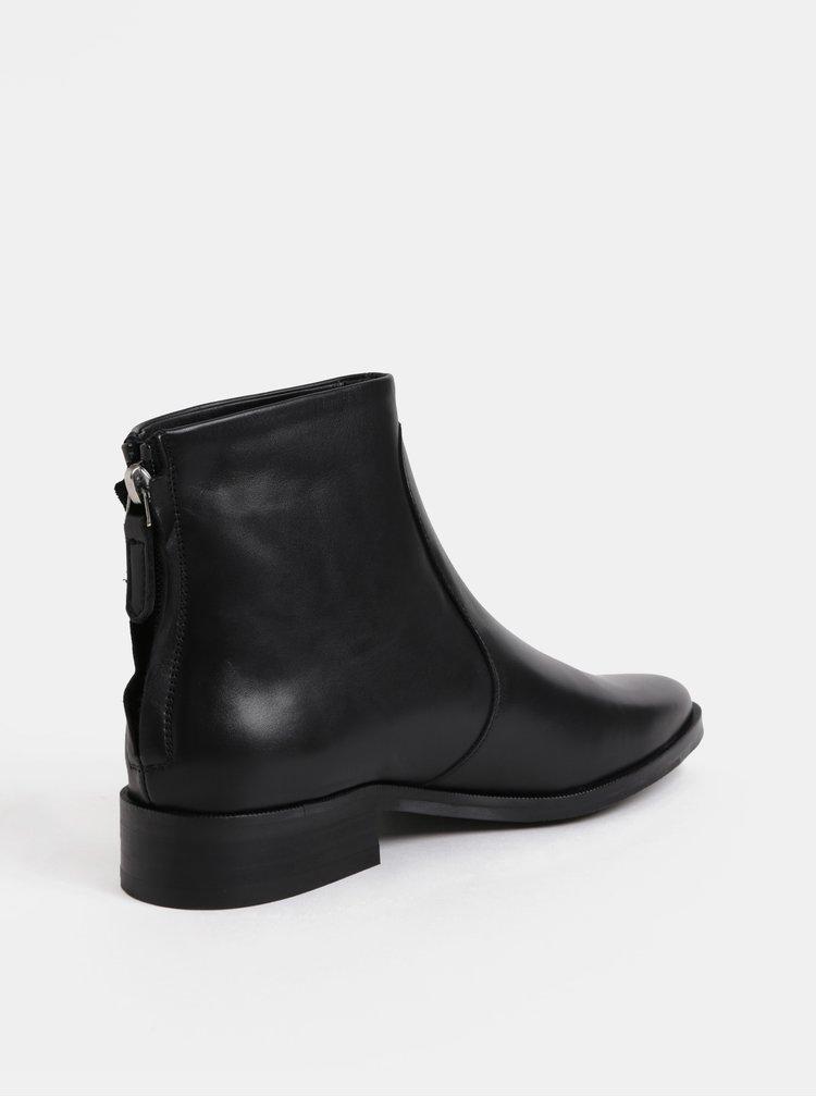 Černé dámské kožené kotníkové boty Royal RepubliQ