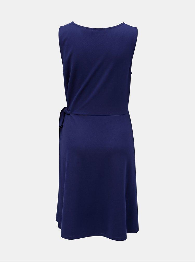 Tmavě modré šaty s vázáním na boku s.Oliver
