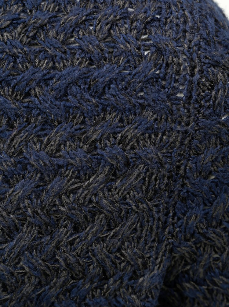 Pulover albastru inchis melanj ONLY & SONS Odin